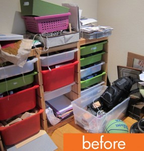 Messiest Desk Contest, Part 1: Sort, declutter, store