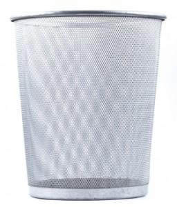 Kid clutter tip: Trash cans