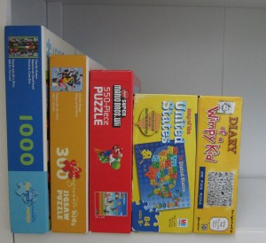 Kid clutter tip: Puzzles and boardgames