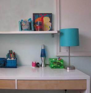 Kid clutter tip: Workspace