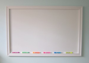 Kid clutter tip: Whiteboards, paper clutter, and time management