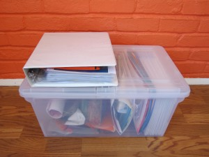 The lazy organizer's guide: How to store children's artwork and schoolwork